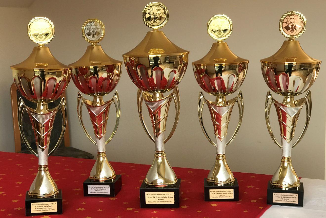 Pokale für die Gesamtwertung